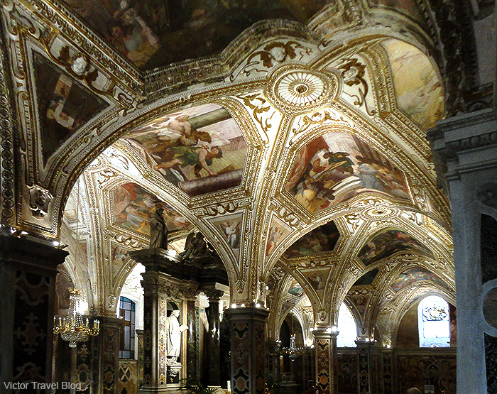 The crypt of the Amalfi Cathedral. Amalfi, Italy.
