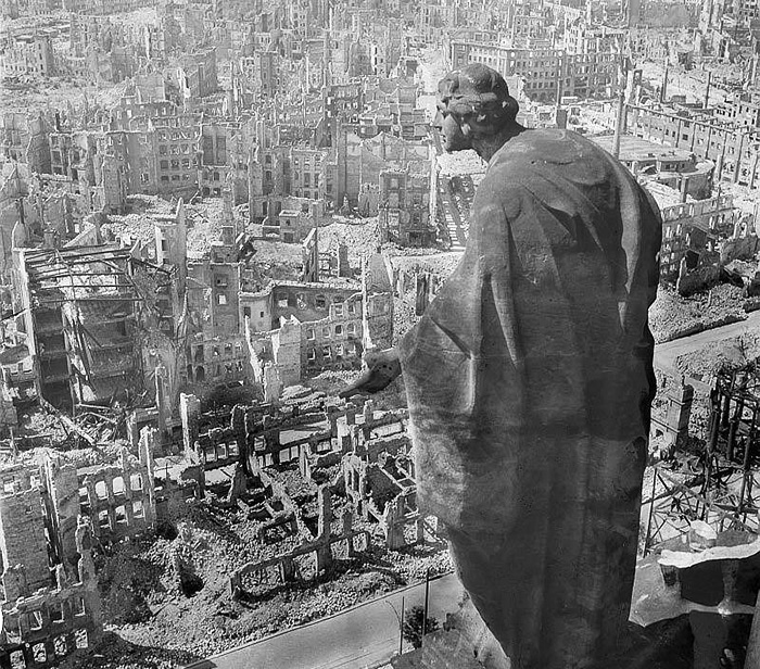 Dresden after bombing. 1945.
