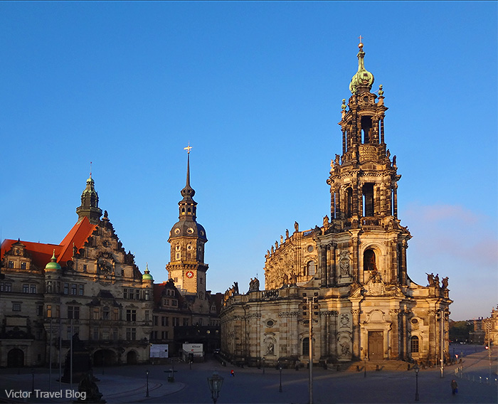 The Catholic Church of the Royal Court of Saxony. Dresden, Germany.