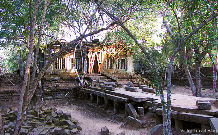 The library of the Beng Mealea temple. Siem Reap Province. Cambodia.