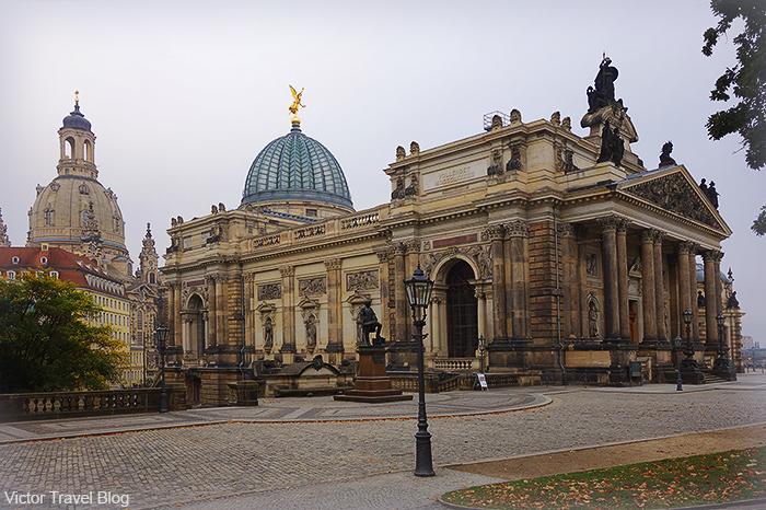 Lipsius-Bau. Bruhl's Terrace. Dresden, Germany.