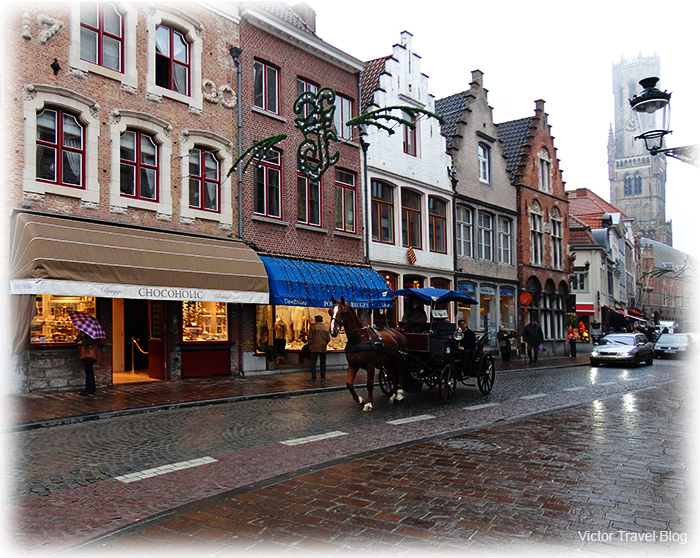 One of the streets of Brugge, Belgium.
