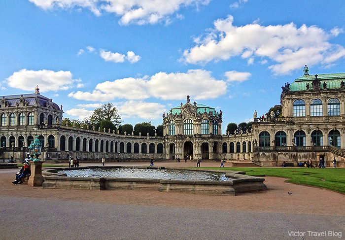 Zwinger Palace today. 2013. Dresden, Germany.