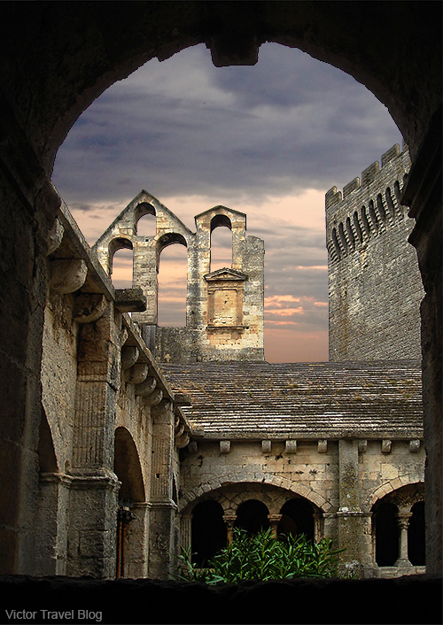Ruins of the Montmajour Abbey, France.