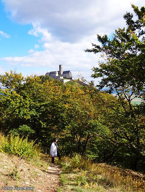 The second hill of Bezdez Castle. Bohemia, Czech Republic.