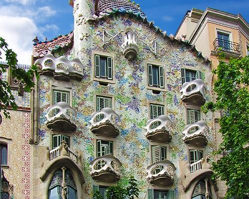 Casa Batlló by Antoni Gaudi in Barcelona. Catalonia, Spain.