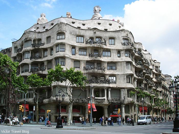 Casa Milà by Antoni Gaudi. Barcelona, Spain.