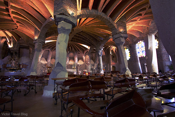 The Crypt in the Colonia Cuell. Barcelona, Catalonia, Spain.