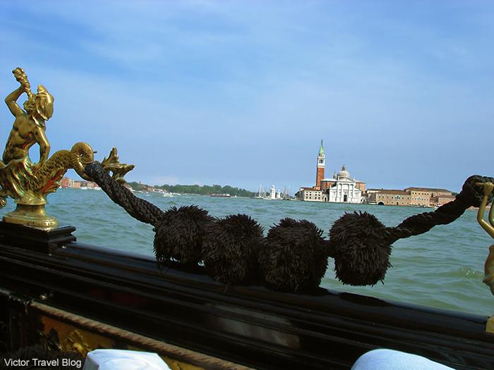 On a gondola. Venice, Italy.