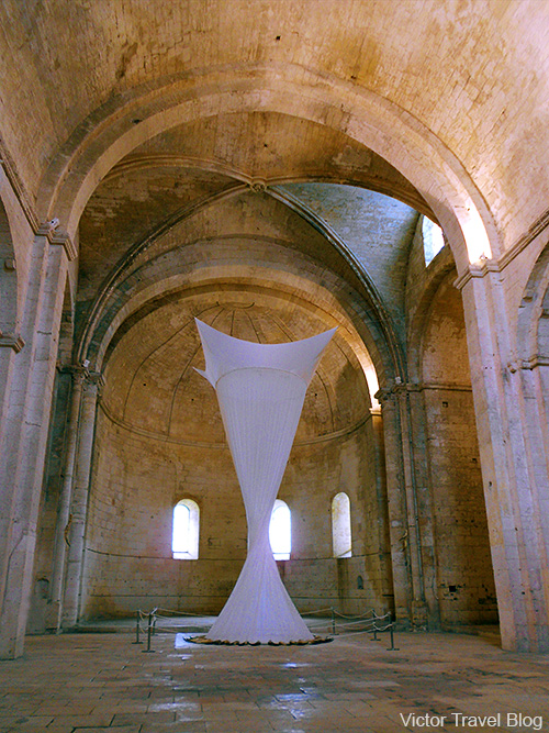 The main hall of Montmajour Abbey, France.