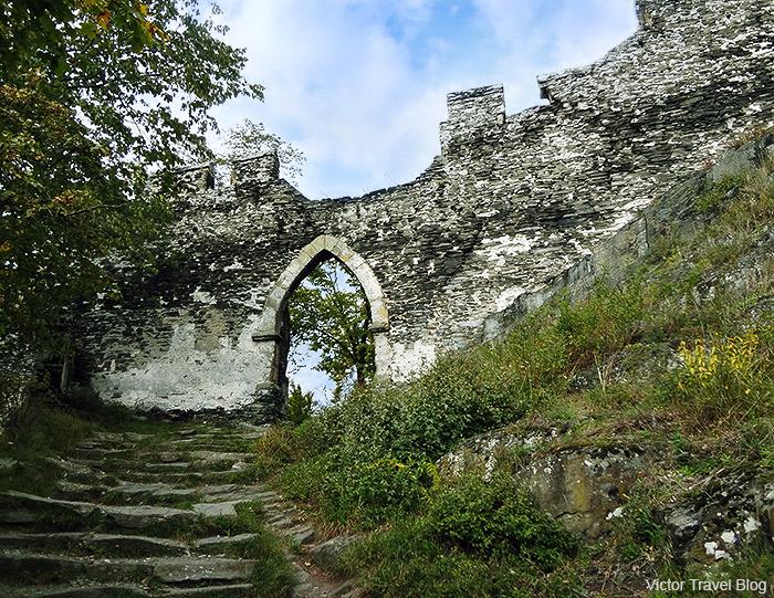 The main gate of Bezdez Castle. Bohemia, Czechia.