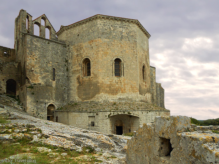 Ruins of Montmajour Abbey, France.