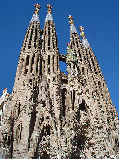 Sagrada Familia by Antoni Gaudi. Barcelona, Spain.
