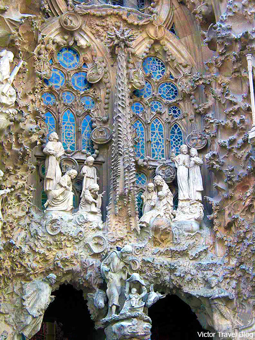Fragment of Sagrada Familia. Barcelona, Spain.