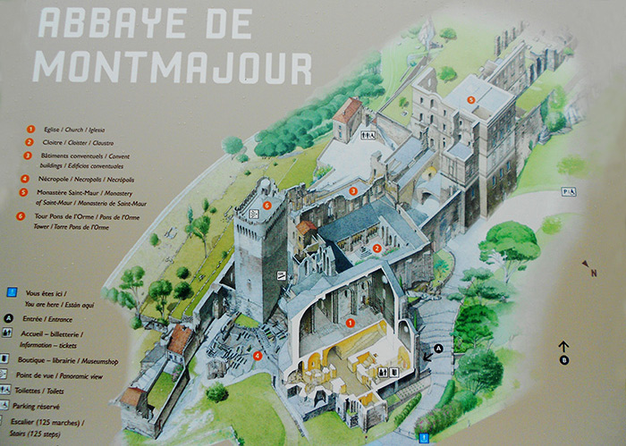 The scheme of Montmajour Abbey, France.