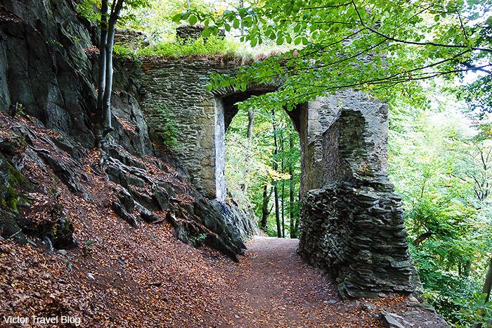 The second gate of Bezdez Castle. Bohemia, Czechia.