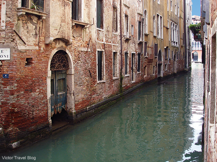 A street of the sinking Venice. Italy.