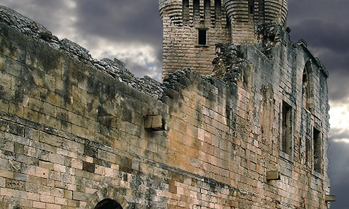 Watchtower of the Montmajour Abbey, France.