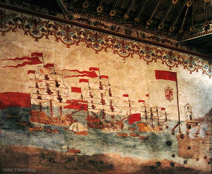 Christopher Columbus's ships in Iglesia Nuestra Senora Asuncion. La Gomera, Canary Islands, Spain.