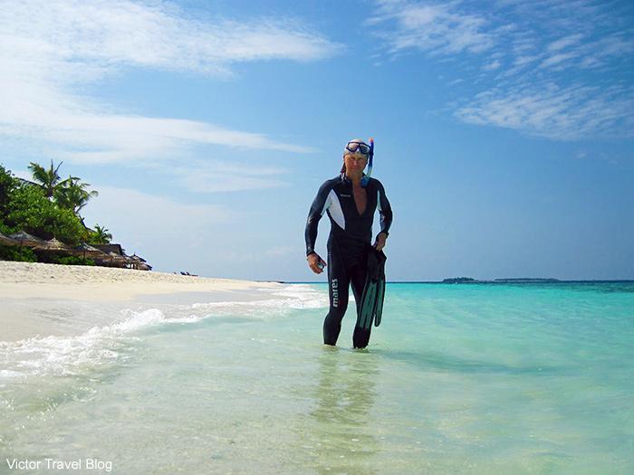 Victor Tribunsky. Snorkeling on Vilamendhoo Island. The Maldives.
