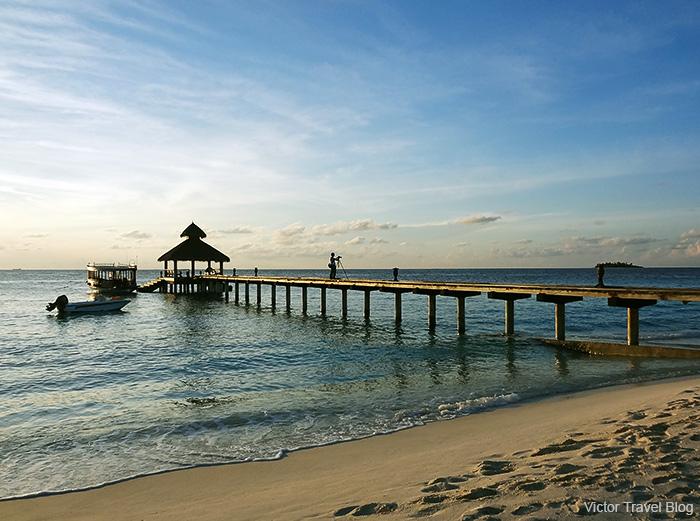 Photographer. Reethi Beach. The Maldives.