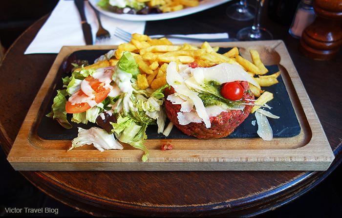 Beef tartare. Paris, France.