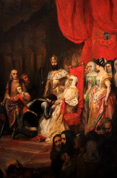 Ines de Castro. Coronation after death in Monastery of the Holy Cross, Coimbra, Portugal.