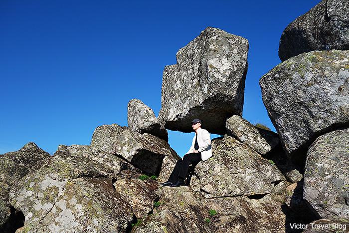 Boulders around Monsanto Castle. Monsanto Mountain. Portugal.