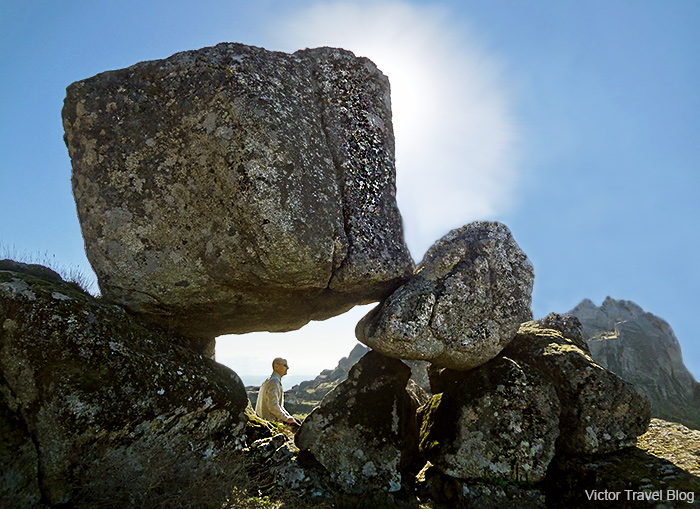 Boulders around Monsanto Castle. The Monsanto Mountain. Portugal.