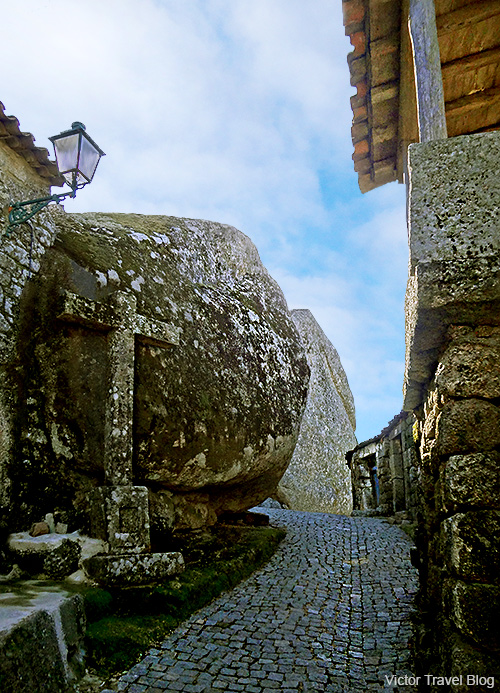 One of the streets of the medieval village of Monsanto. Portugal.