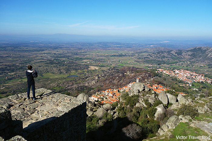 The view of Monsanto Village from the wall of Monsanto Castle. Portugal.