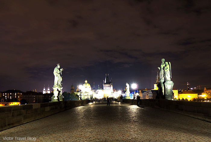 The nigh Charles Bridge. Prague, Czech Republic.