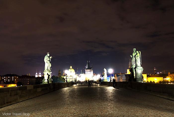 The nigh Charles Bridge. Prague, Czech Republic.