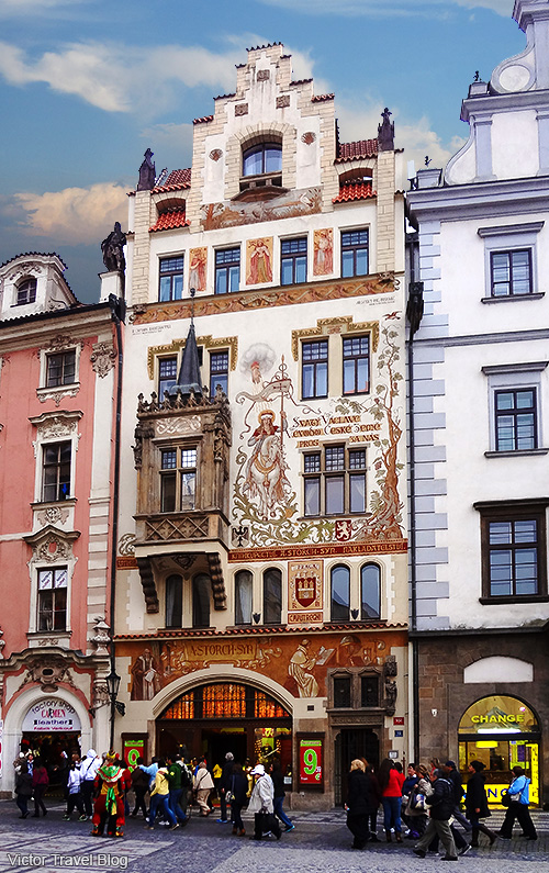The house in the center of Prague, Czech Republic.