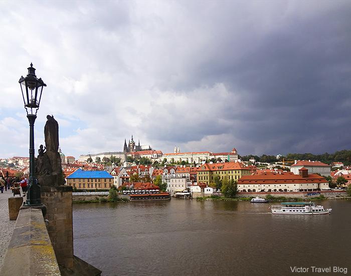 Prague Castle and Gothic cathedral St. Vitus. Prague.