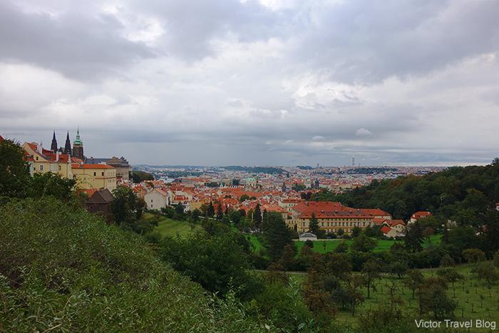 The view from the breakfast room of Hotel Questenberk. Prague, Czech Republic.