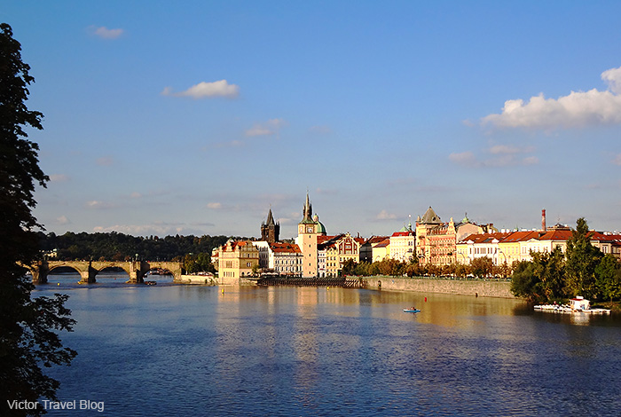 The view from Charles Bridge. Prague, Czech Republic.