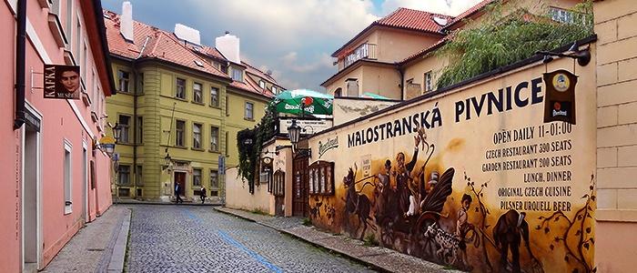 One of the breweries of Prague. Czech Republic.