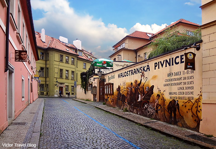 One of the breweries of Prague. Czech Republic.