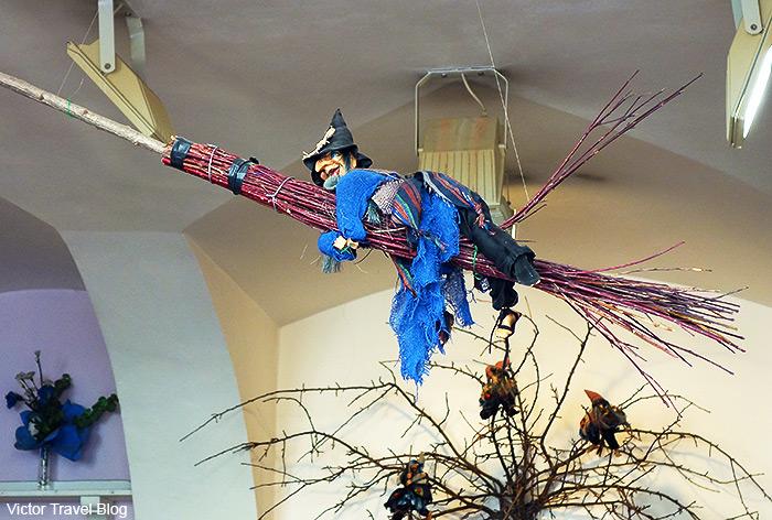 One of the scary dolls. Prague. Czech Republic.