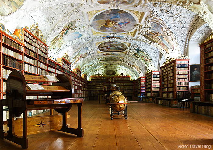 One of the rooms of Strahov Monastery library. Hradcany. Prague, Czech Republic.