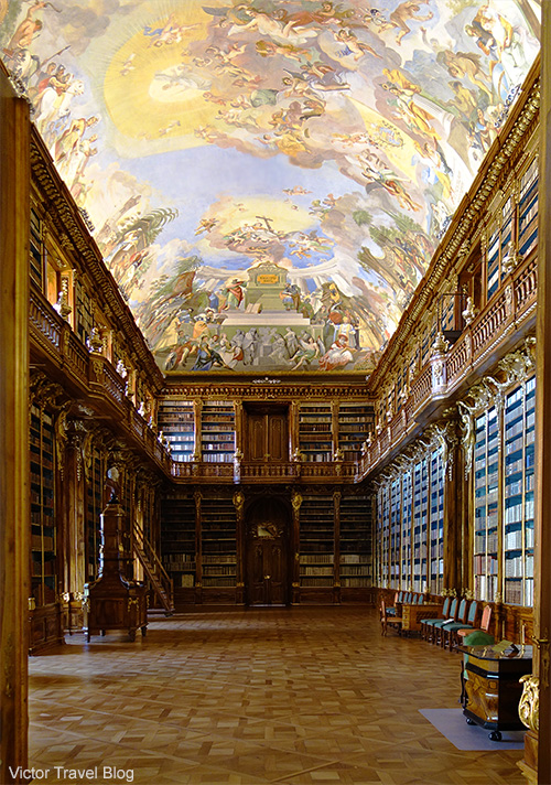One of the rooms of Strahov Monastery library. Hradcany. Prague, Czech Republic.