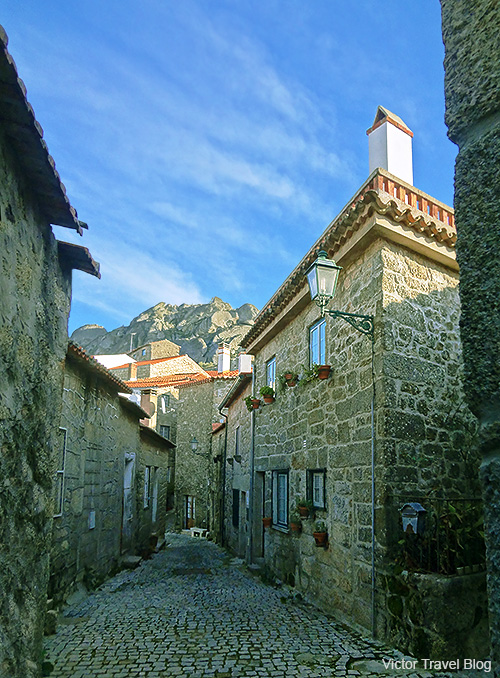 One of the streets of the medieval Monsanto Village. Portugal.