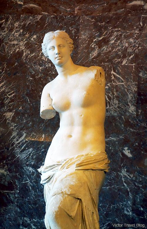 The Venus de Milo. Louvre Museum, Paris, France.