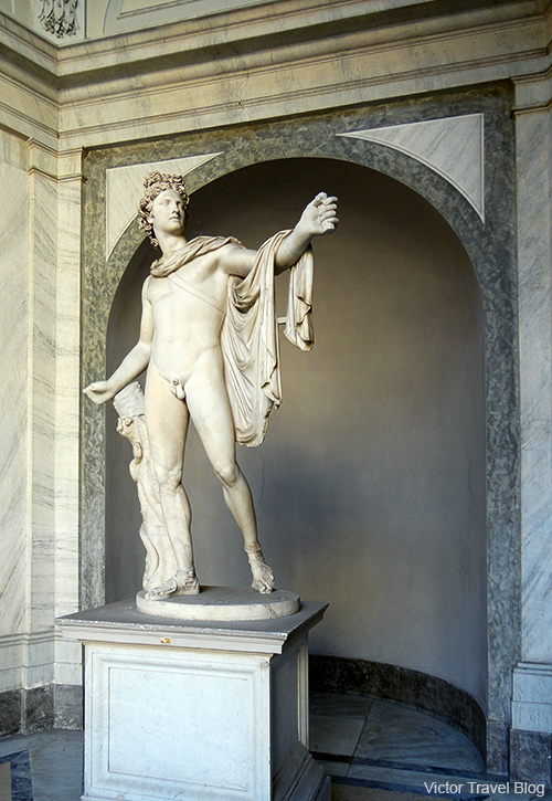 The Apollo Belvedere or Apollo of the Belvedere.The Vatican Museums, Rome, Italy.