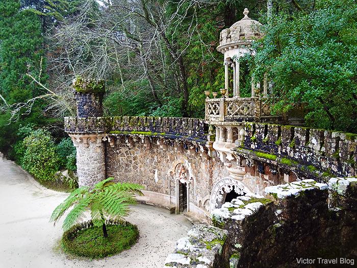 The garden of Quinta da Regaleira. Sintra, Portugal.