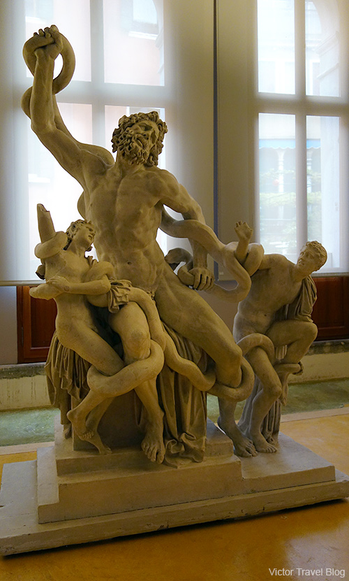 Laocoon and his sons statue in the Palazzo Grimani. Venice, Italy.