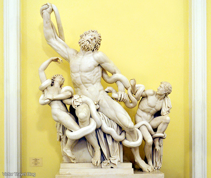 Laocoon and his sons statue. Winter Palace, State Hermitage Museum, St. Petersburg, Russia.