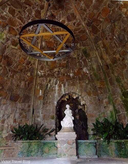 Leda Cave in the garden of Quinta da Regaleira. Sintra, Portugal.