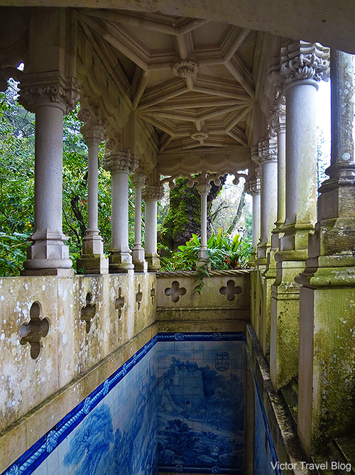 The second entrance to Quinta da Regaleira. Sintra, Portugal.